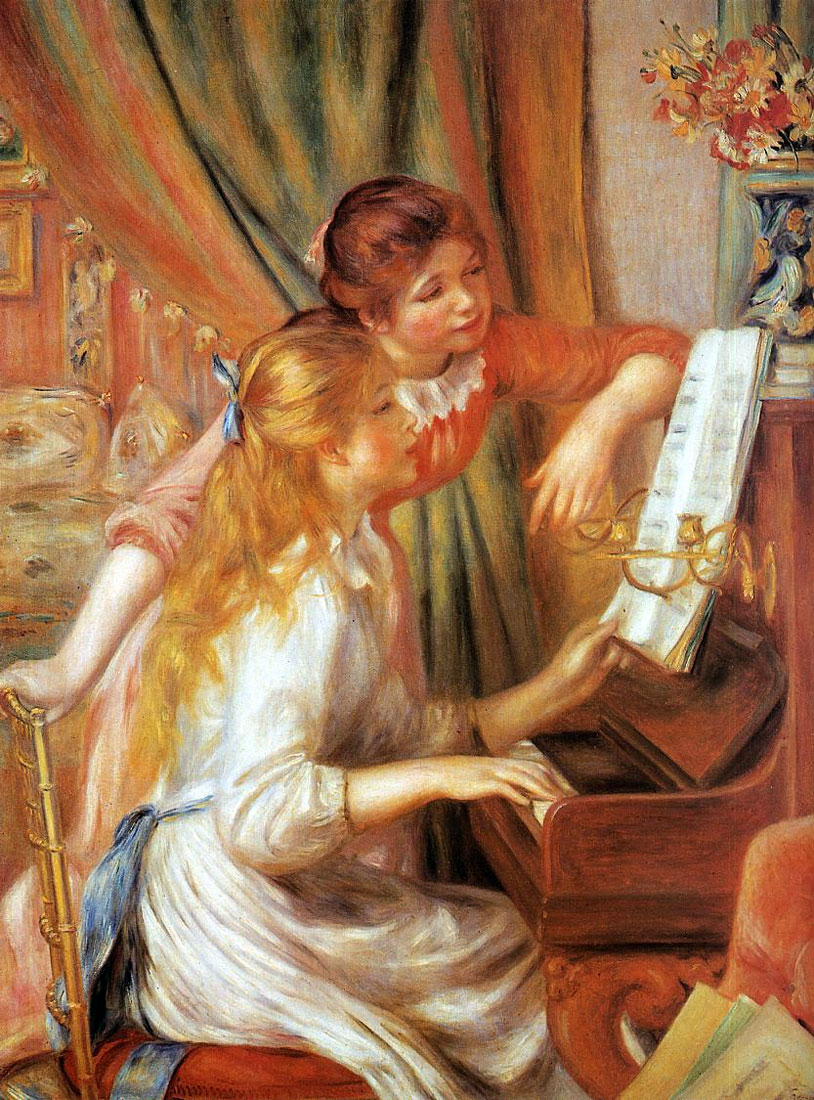 Two Young Girls at the Piano (by Pierre-Auguste Renoir) (image)