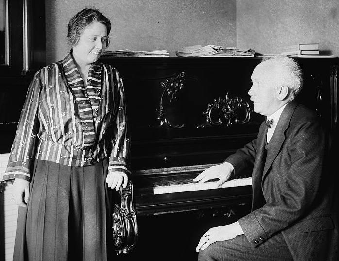 Richard Strauss and Elisabeth Schumann (image)