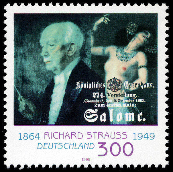 Richard Strauss and his opera Salome - stamp, Germany, 1999 (image)