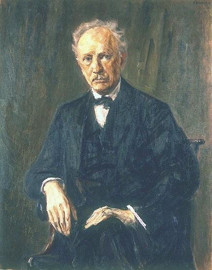 Richard Strauss, a painting by Max Liebermann (1918) (image)