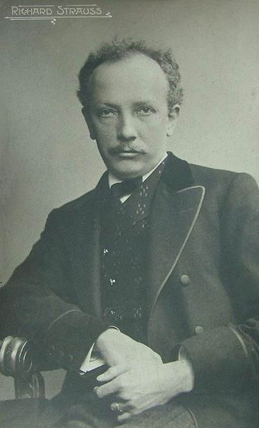 Richard Strauss, 1910 - old postcard (image)