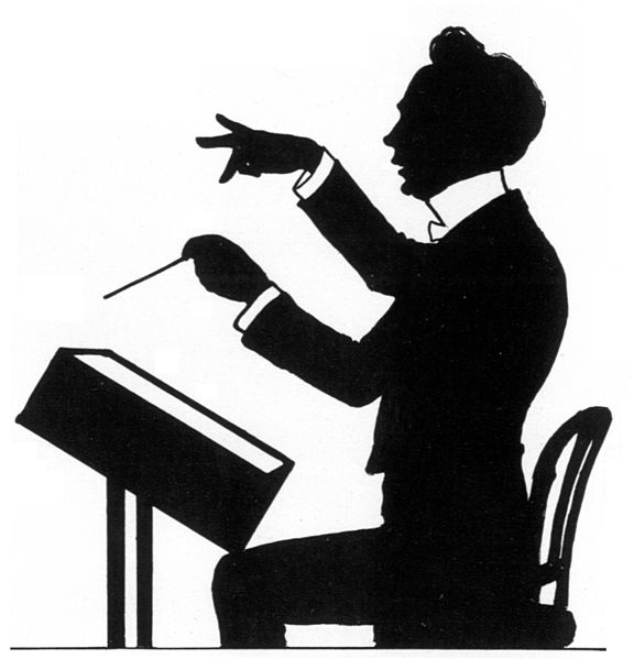 Richard Strauss, a caricature by Theo Zasche (image)