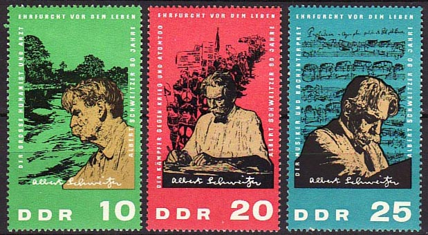 Albert Schweitzer on GDR, 1965 (image)