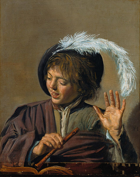 Singing Boy with Flute (c. 1623) by Frans Hals (image)