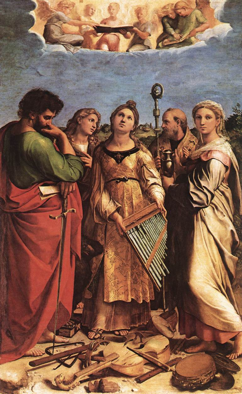 Ecstacy of St. Cecilia (1516-17) by Raphael (image)