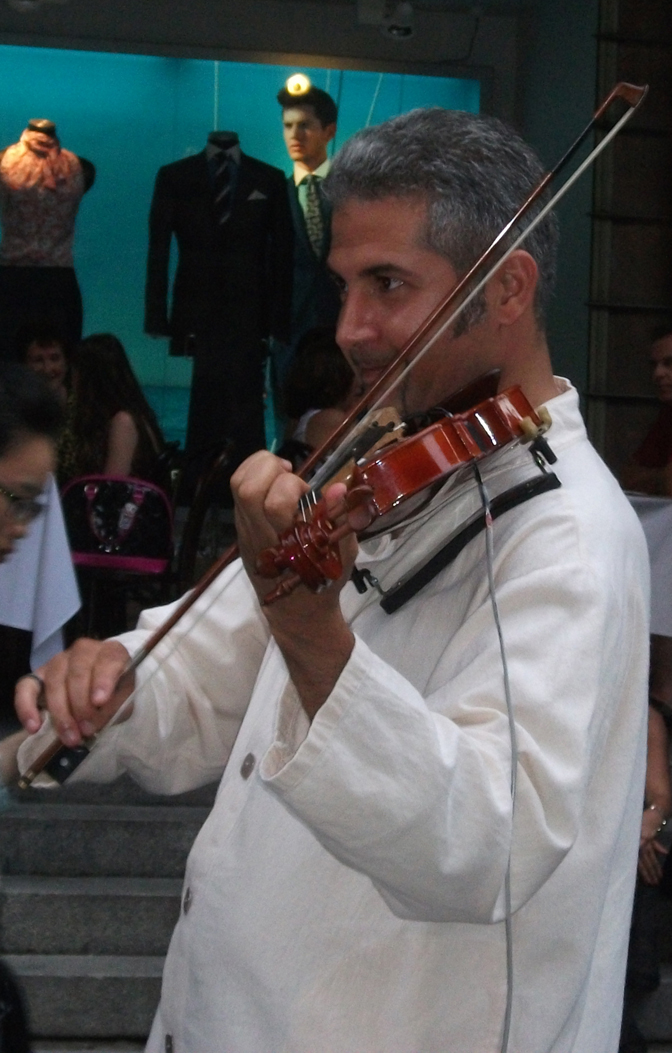 Violinist from the Balkan Duo (images)