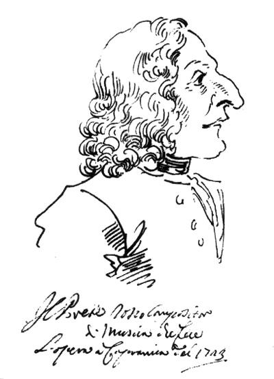 Caricature of Antonio Vivaldi by Pier Leone Ghezzi  (image)