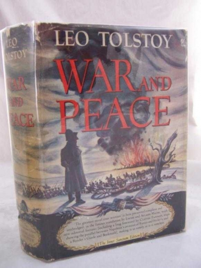War and Peace (by Leo Tolstoy) (1942 edition) (image)