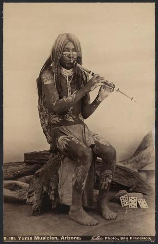 Yuma musician with flute (image)