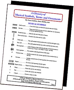 Music Symbols, Terms, and Ornaments