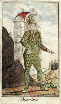 Papageno in The Magic Flute (Mozart) poster
