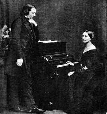 Fotograf�a de Clara y Schumann